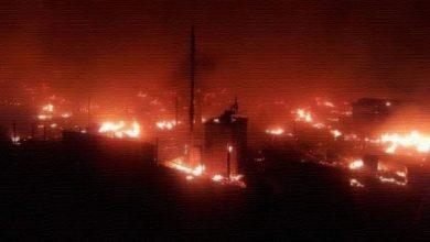حريق-مخيم-اللاجئين-السوريين