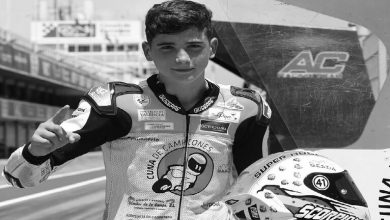 A tragic accident in a motorcycle race, Arabic newspaper -Profile News