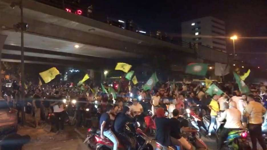 A demonstration by Hezbollah supporters in Beirut in response to Khalil's request for investigation, Arabic newspaper -Profile News