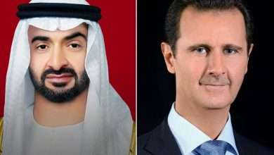 Assad makes a phone call to the Crown Prince of Abu Dhabi, Arabic newspaper -Profile News